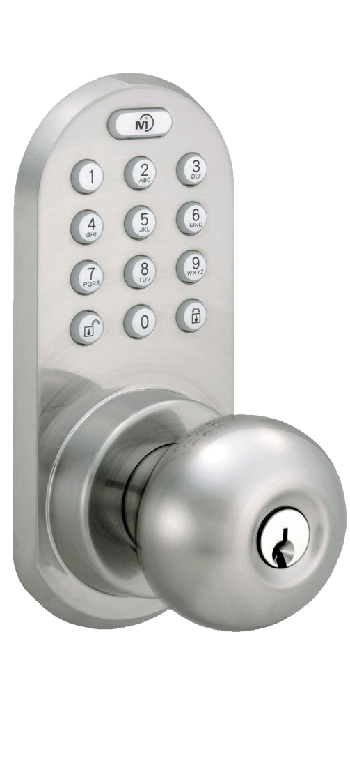 Keyless Entry Knob Door Lock with Bluetooth and Electronic Digital Keypad