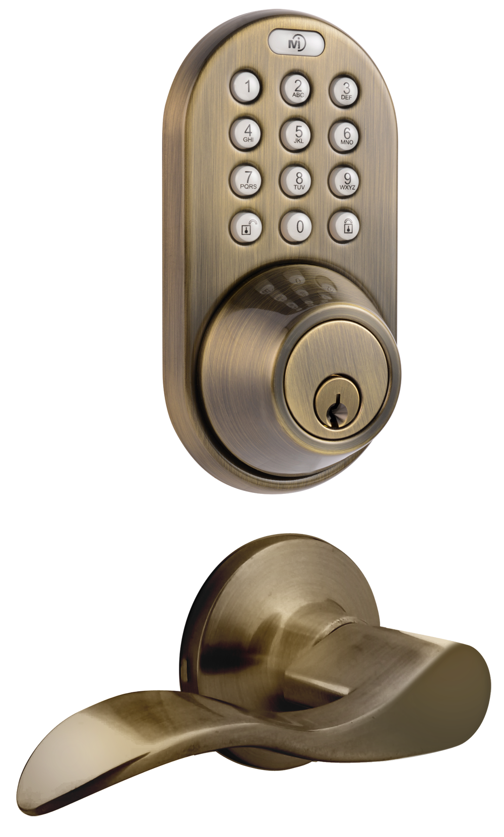 keyless entry deadbolt and lever handle door lock combo pack with electronic digital keypad