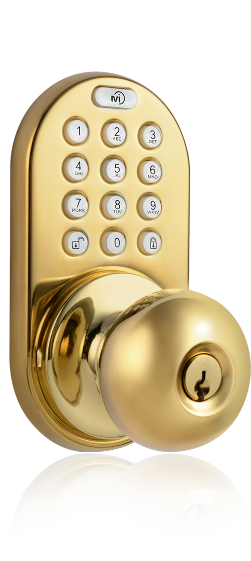 milocks dkk 02 keyless entry knob door lock with. Black Bedroom Furniture Sets. Home Design Ideas