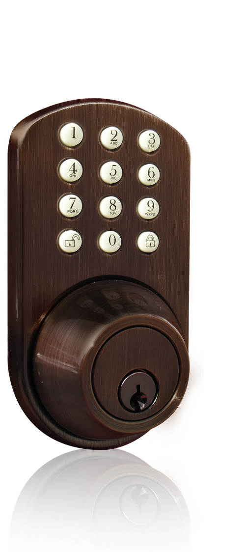 keyless entry deadbolt door lock with electronic digital keypad