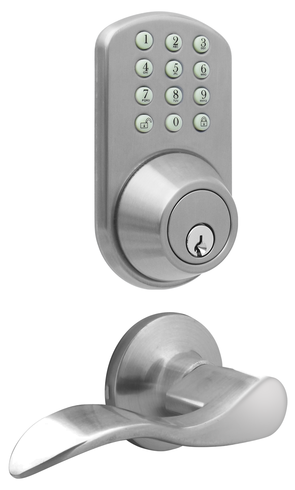 Electronic Deadbolt With Auto Lock Full Image For Open