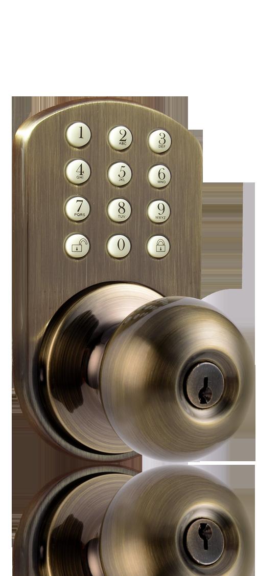milocks tkk 02 keyless entry knob door lock with electronic digital keypad. Black Bedroom Furniture Sets. Home Design Ideas