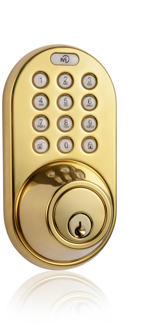 Keyless Entry Deadbolt Door Lock with RF Remote Control and Electronic Digital Keypad