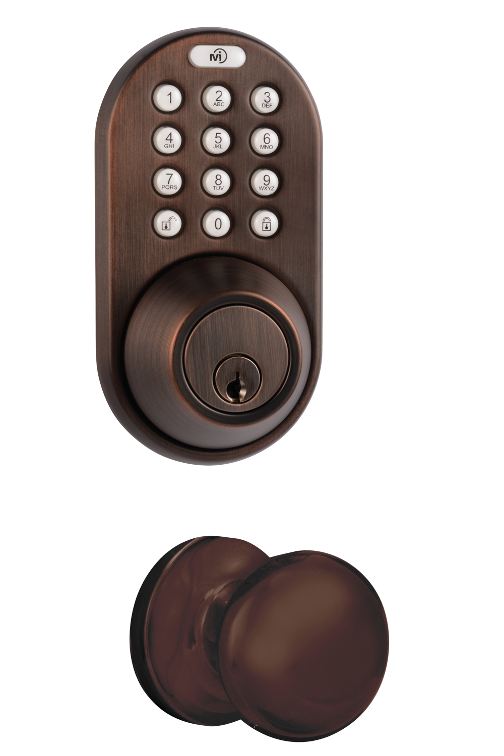 Keyless Entry Deadbolt and Knob Door Lock Combo Pack with RF Remote Control and Electronic Digital Keypad
