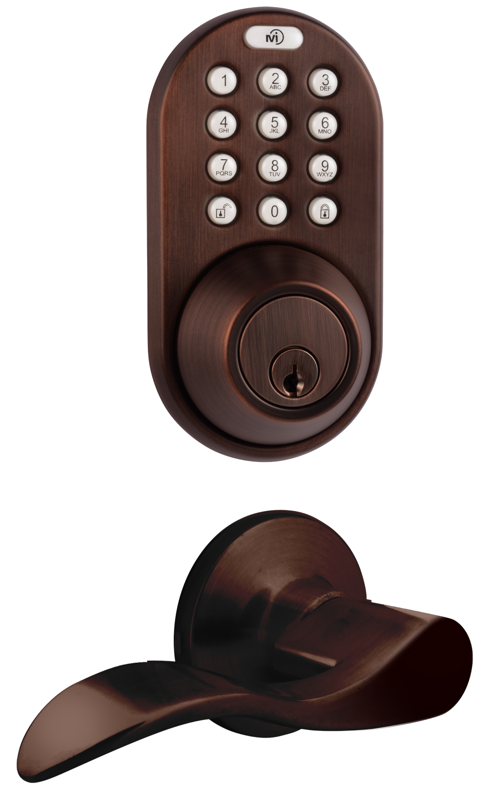keyless entry deadbolt and lever handle door lock combo pack with rf remote control and electronic