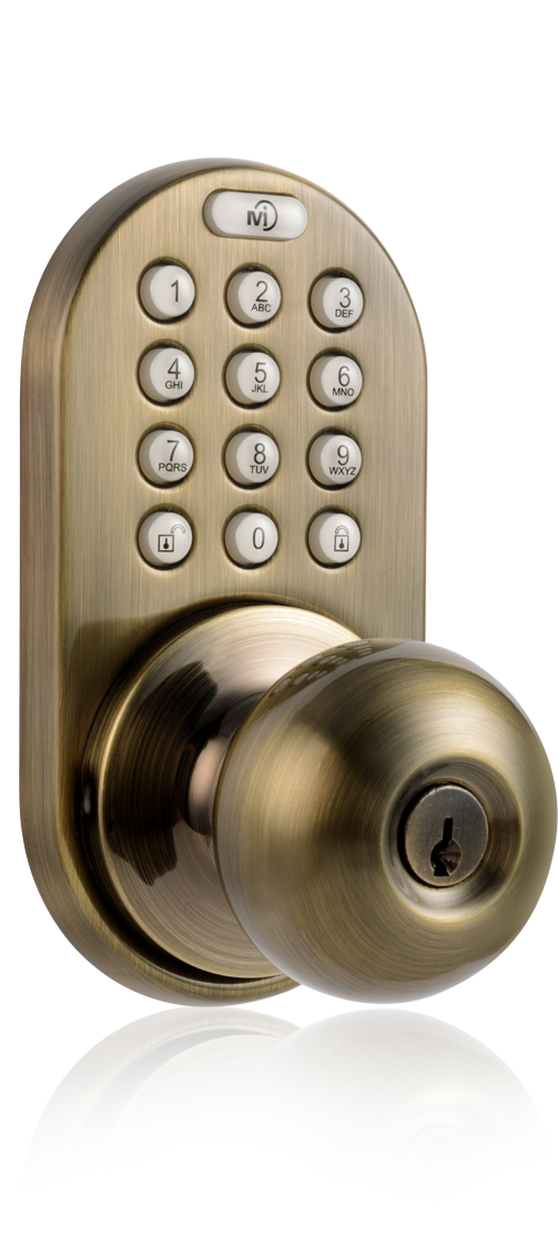 milocks xkk 02 keyless entry knob door lock with rf remote. Black Bedroom Furniture Sets. Home Design Ideas