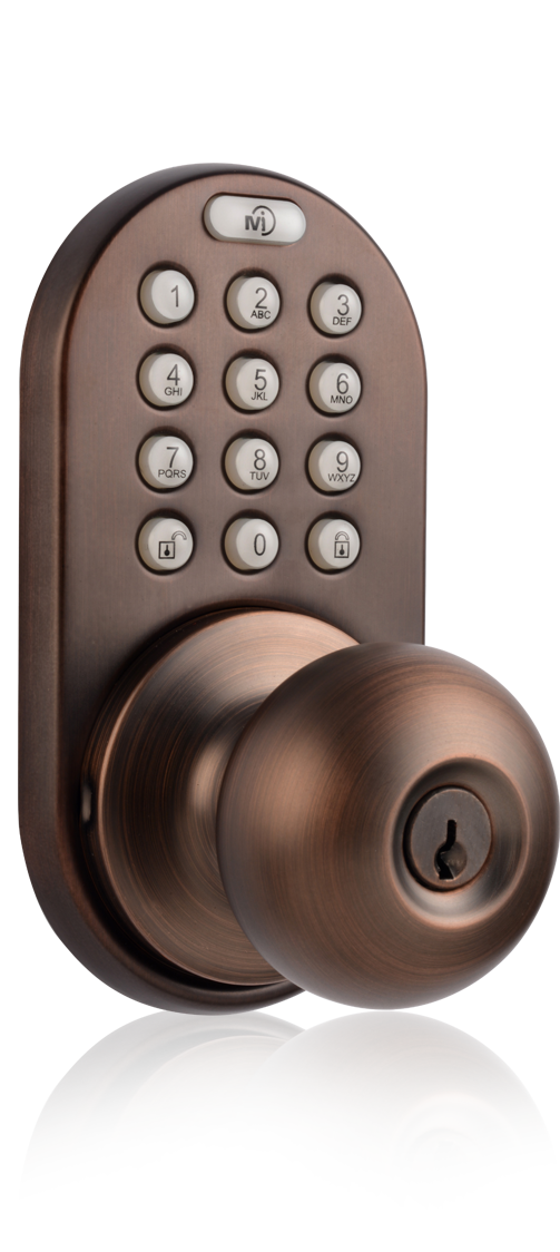 Keyless Entry Knob Door Lock with RF Remote Control and Electronic Digital Keypad